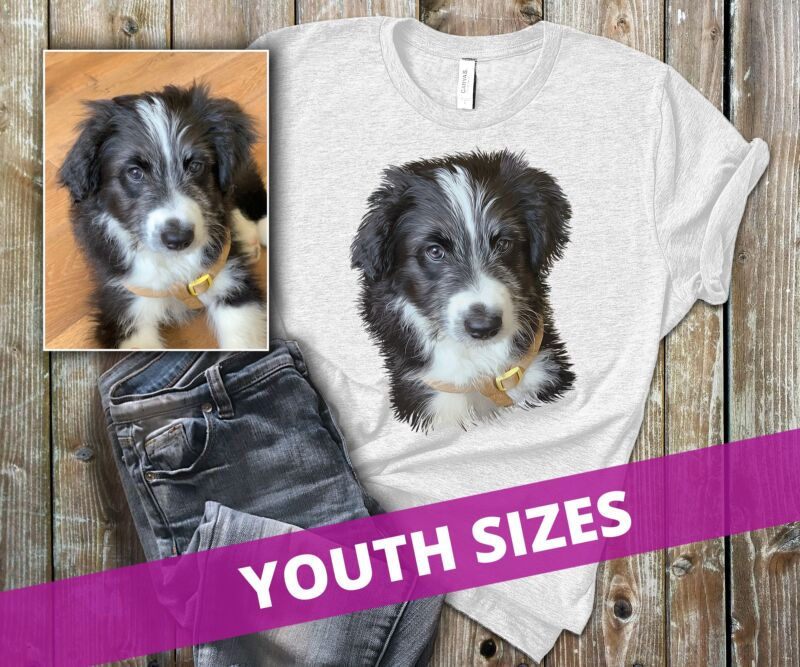 custom pet shirts for youth